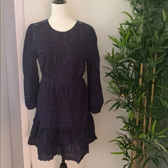 JCrew Navy Eyelet dress - size 8